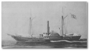 "The ""Water Witch"" back in 1851, when she flew under a US flag."