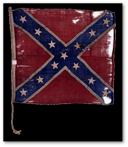 "The Confederate naval jack of the ""CSS Beaufort"" is now in the New York State Military Museum.  (Source)"