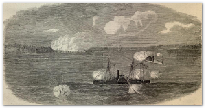 "The bombardment of Fort Anderson.  ""Harper's Weekly"""