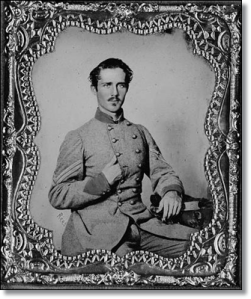 """Per the Library of Congress, """"Bernard B. Graves joined the Hanover Artillery May 22, 1861. In Oct., 1862, he was transferred to the Amherst Artillery and fought with it the remainder of the war, a part of the time as a corporal. He was captured near Waynesboro, Va., Mar. 2, 1865 and imprisoned in Fort Delaware. He died at the age of forty-three."""""""