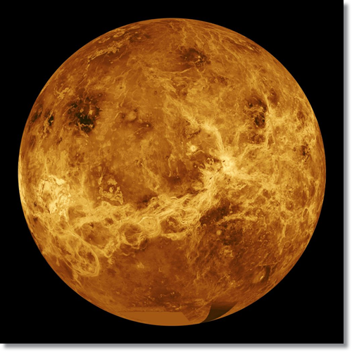 The Magellan mission mapped almost all of the surface of Venus, using radar.  NASA