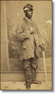 Unknown man in New Orleans, between 1864 and 1866.  (Library of Congress)