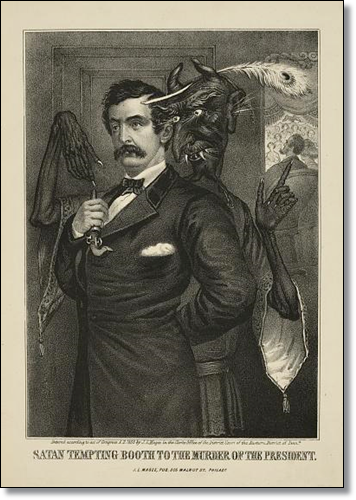 Satan tempting Booth to the murder of the President, by John L. Magee (Library of Congress)