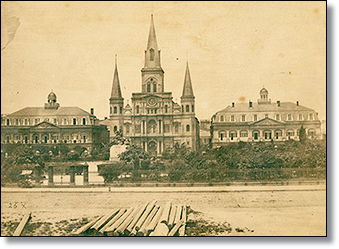 A provisional Federal court met at the Presbytere in 1865, but this society had undergone too much too quickly to remain completely civil.  (Image source)