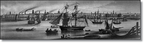 An 1857 illustration of New Orleans (Library of Congress)